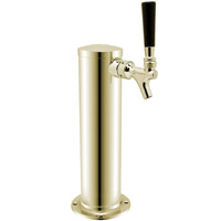 Polished Stainless Steel 1-Faucet Beer Tower - 3-Inch Column