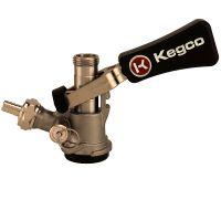 Keg Tap Beer Coupler D System Ergonomic Lever Handle Stainless Steel Probe - Kegco KTS97D-W