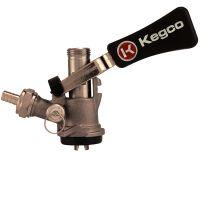 Beer Keg Taps Couplers S System Ergonomic Lever Handle Stainless Steel Probe - Kegco KTS98S-W